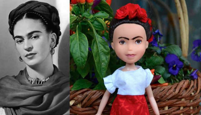 Frida Kahlo as a doll 2