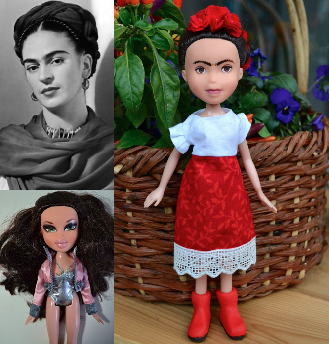 Frida Kahlo as a doll