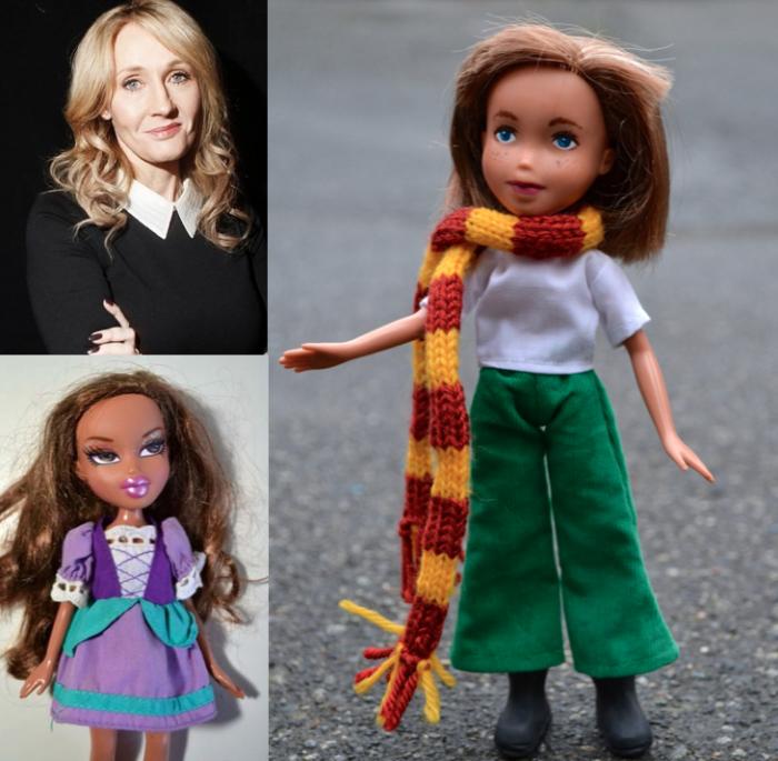 J.K. Rowling as a doll