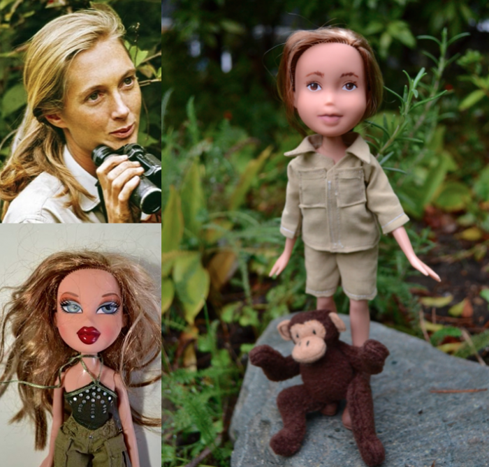 Jane Goodall as a doll
