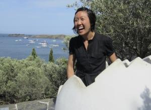 Nadia Chu in Dali's egg