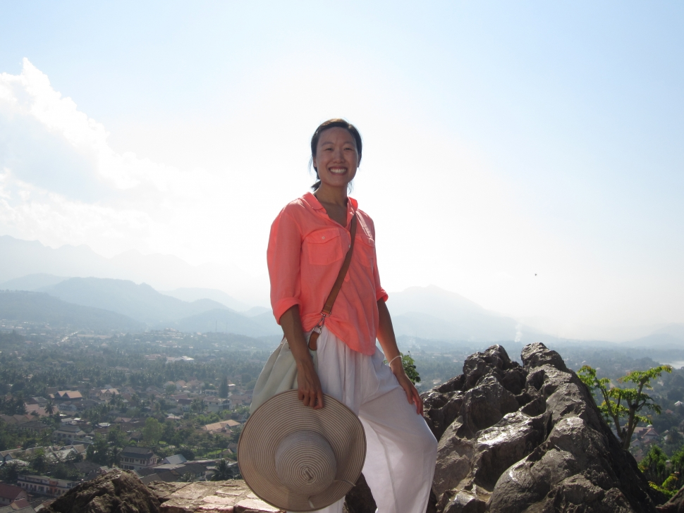 Nadia Chu, mountain view, Luang Prabang