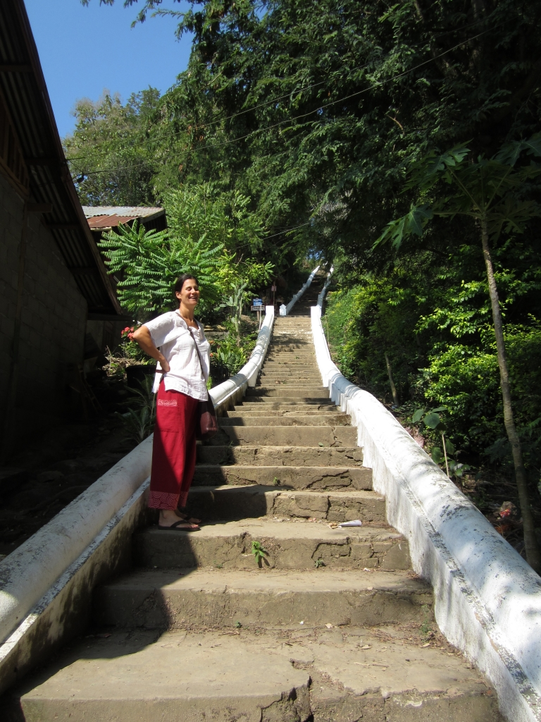 Steps to temple, Luang Prabang, Laos