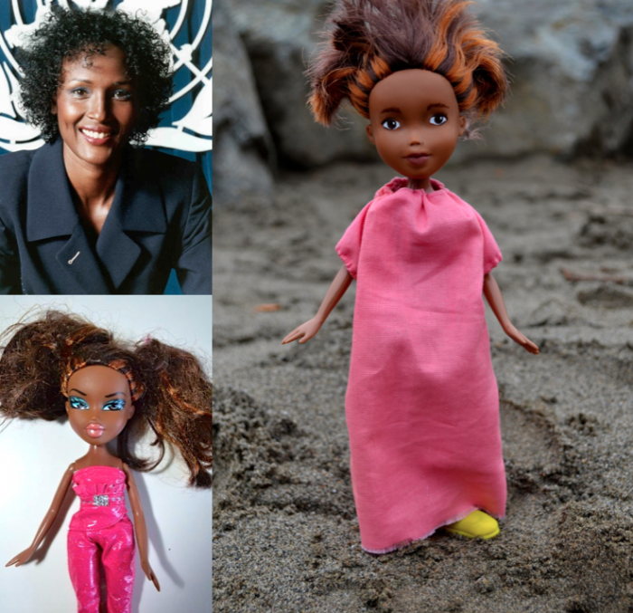 Waris Dirie as a doll
